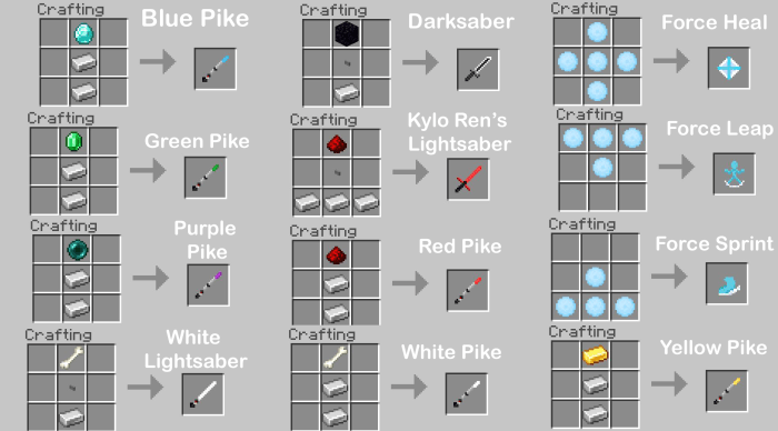 Addon Simple Lightsabers Version 2 1.13