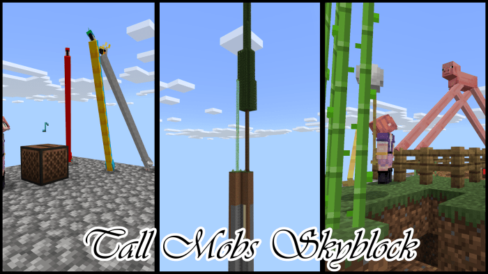 Map Tall Mobs Skyblock 1.14